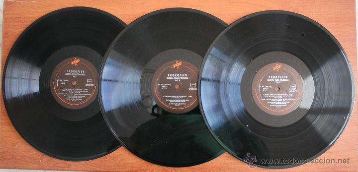 COLECCIÓN DE 3 VOLUMENES DE DISCOS DE VINILO PROKOFIEV: MUSICA PARA PELICULAS – HISPA VOX - (Música - Discos de Vinilo - Maxi Singles - Otros estilos)