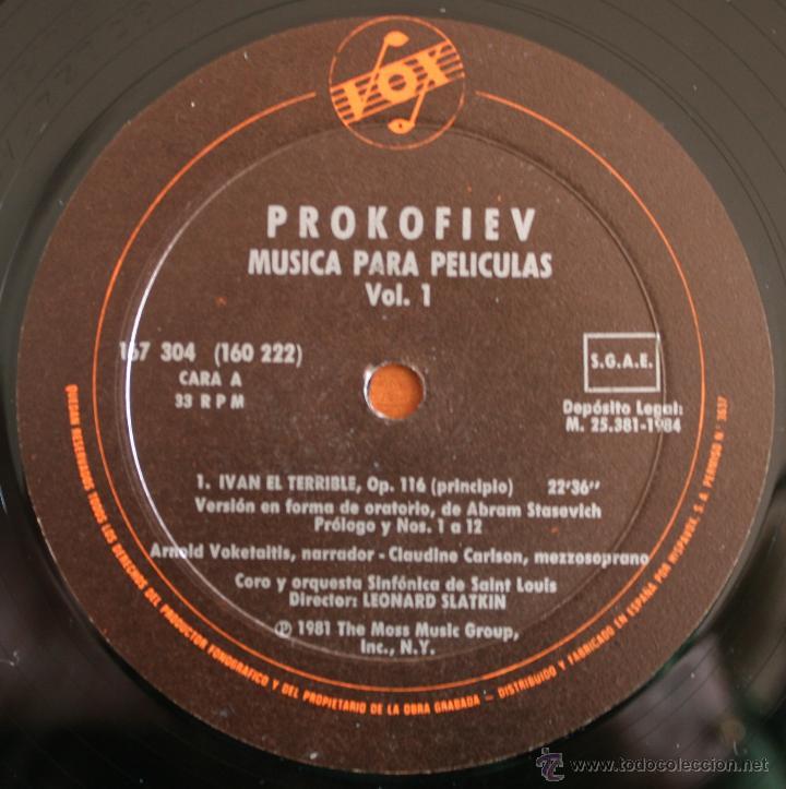 Discos de vinilo: COLECCIÓN DE 3 VOLUMENES DE DISCOS DE VINILO PROKOFIEV: MUSICA PARA PELICULAS – HISPA VOX - - Foto 2 - 54367960