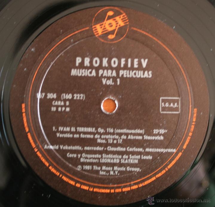 Discos de vinilo: COLECCIÓN DE 3 VOLUMENES DE DISCOS DE VINILO PROKOFIEV: MUSICA PARA PELICULAS – HISPA VOX - - Foto 3 - 54367960