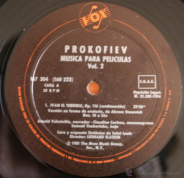 Discos de vinilo: COLECCIÓN DE 3 VOLUMENES DE DISCOS DE VINILO PROKOFIEV: MUSICA PARA PELICULAS – HISPA VOX - - Foto 4 - 54367960