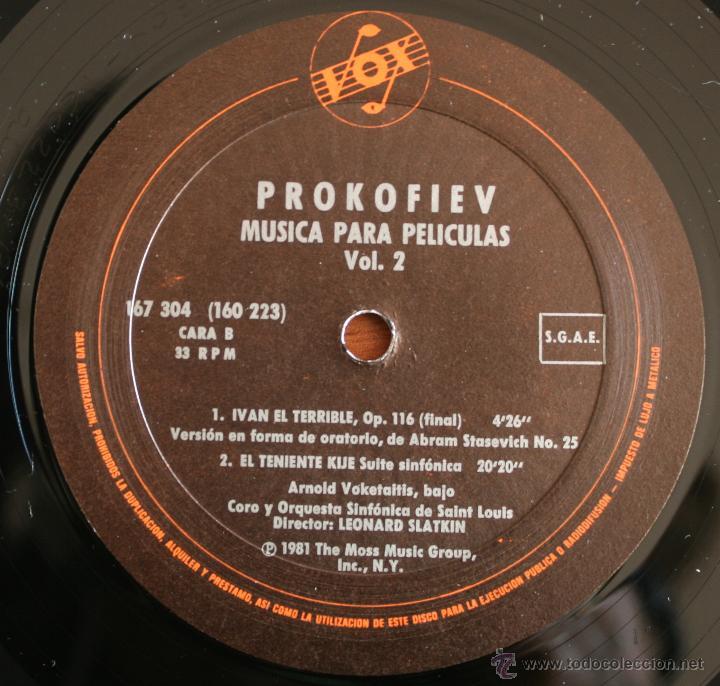 Discos de vinilo: COLECCIÓN DE 3 VOLUMENES DE DISCOS DE VINILO PROKOFIEV: MUSICA PARA PELICULAS – HISPA VOX - - Foto 5 - 54367960