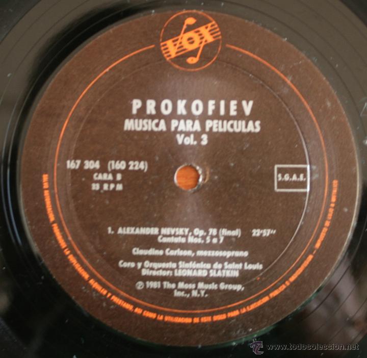 Discos de vinilo: COLECCIÓN DE 3 VOLUMENES DE DISCOS DE VINILO PROKOFIEV: MUSICA PARA PELICULAS – HISPA VOX - - Foto 7 - 54367960