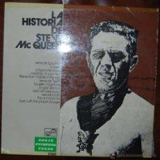 Discos de vinilo: LP - RAREZA - LA HISTORIA DE STEVE MCQUEEN - ZAFIRO 1975 ZV-864. Lote 54368196