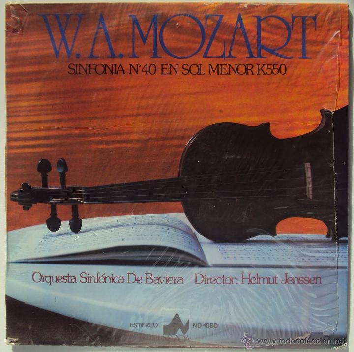 MOZART: SINFONIA Nº 40 EN SOL MENOR K550. HELMUT JENSSEN Y WILHELM SCHERING (PIANO) SIN ESCUCHAR (Música - Discos - LP Vinilo - Clásica, Ópera, Zarzuela y Marchas)