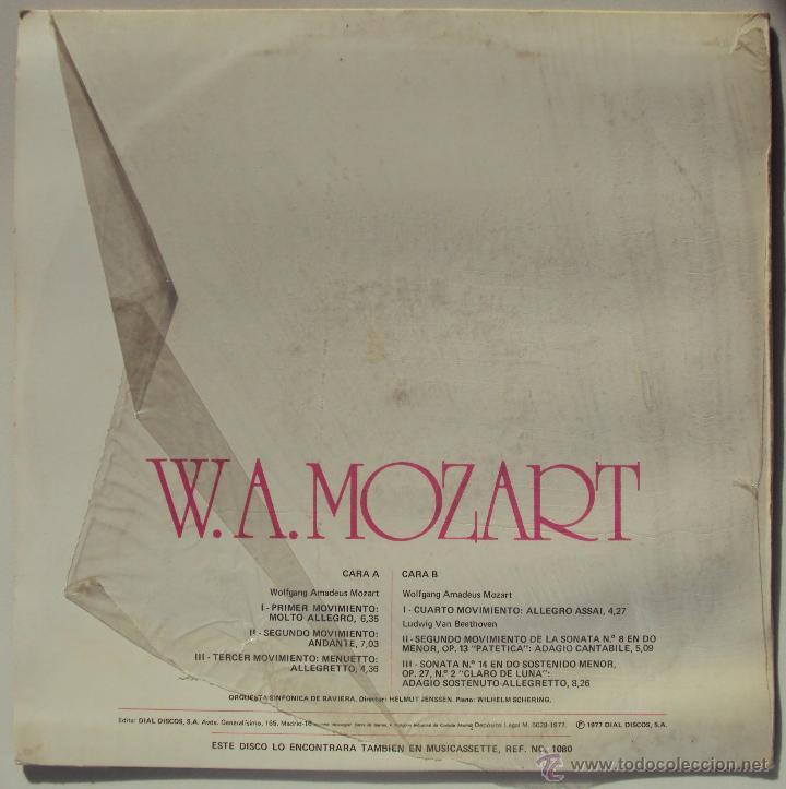 Discos de vinilo: MOZART: SINFONIA Nº 40 EN SOL MENOR K550. HELMUT JENSSEN Y WILHELM SCHERING (PIANO) SIN ESCUCHAR - Foto 2 - 54370624