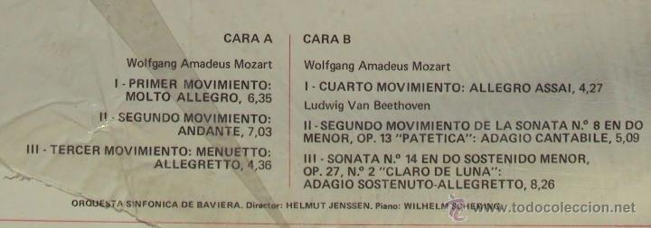 Discos de vinilo: MOZART: SINFONIA Nº 40 EN SOL MENOR K550. HELMUT JENSSEN Y WILHELM SCHERING (PIANO) SIN ESCUCHAR - Foto 3 - 54370624