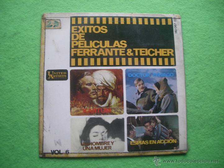 EXITOS DE PELICULAS VOL 6 FERRANTE & TEICHER 1966 UNITED ARTISTS HU-067138 EP (Música - Discos de Vinilo - EPs - Bandas Sonoras y Actores)