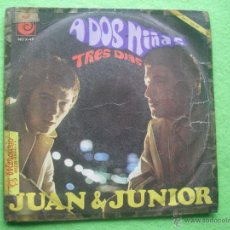 Discos de vinilo: JUAN Y JUNIOR - A DOS NIÑAS / TRES DIAS NOVOLA 1967 SG PEPETO. Lote 54374829