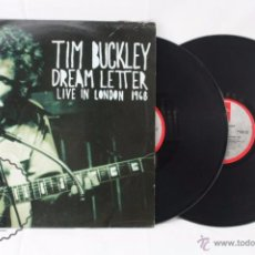 Discos de vinilo: 2 DISCOS / DOBLE LP VINILO - TIM BUCKLEY. DREAM LETTER. LIVE LONDON 1968 - ENIGMA RECORDS, AÑO 1990. Lote 54382426