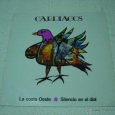 Discos de vinilo: CARDIACOS: LA COSTA OESTE/ SILENCIO EN EL DIAL - MAXI SINGLE DRO 1985. Lote 54388687