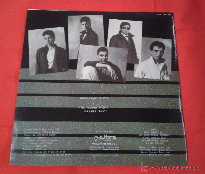 Discos de vinilo: Banco - Donde estas (1985) Maxi Single - Foto 2 - 54389095