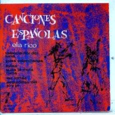 Discos de vinilo: ELIA RICO (CANCIONES ESPAÑOLAS) / LA FLOR DEL TURIA / FOLIAS + 4 (EP 1964). Lote 54390986