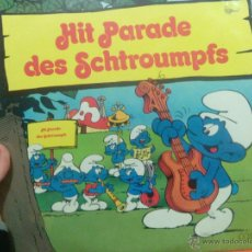 Discos de vinilo: LP DOBLE LOS PITUFOS HIT PARADE THE SCHTROUMPFS. Lote 54391531