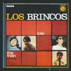 Discos de vinilo: LOS BRINCOS SINGLE NOVOLA 1984 LOLA / THE TRAIN REEDICION. Lote 54392848