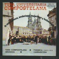 Discos de vinilo: TUNA UNIVERSITARIA COMPOSTELANA.EP MIRMAN´S 1975. Lote 54394094