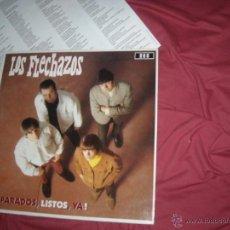 Discos de vinil: LOS FLECHAZOS LP PREPARADOS, LISTOS, YA! CON ENCARTE LETRA DE CANCIONES. Lote 54395887