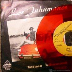 Discos de vinilo: INHUMANOS. VERANO INHUMANO/ MUJER CANÍBAL/ ANA/ LADY. BOASA, ESP. 1983 VINILO ROJO EDICION ESPECIAL . Lote 54398355