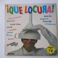 Disques de vinyle: LP VINILO QUE LOCURA STATUS QUO THE COMMUNARDS NACHA POP JOAQUIN SABINA LOS LOBOS HOMBRES G. Lote 54401600