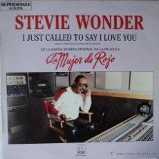 Discos de vinilo: LA MUJER DE ROJO - STEVIE WONDER - BSO - EDICIÓN DE 1984 DE ESPAÑA - MAXI-SINGLE. Lote 54409282
