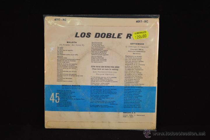 Discos de vinilo: LOS DOBLE R - MALDITA +3 - EP - Foto 2 - 54412900