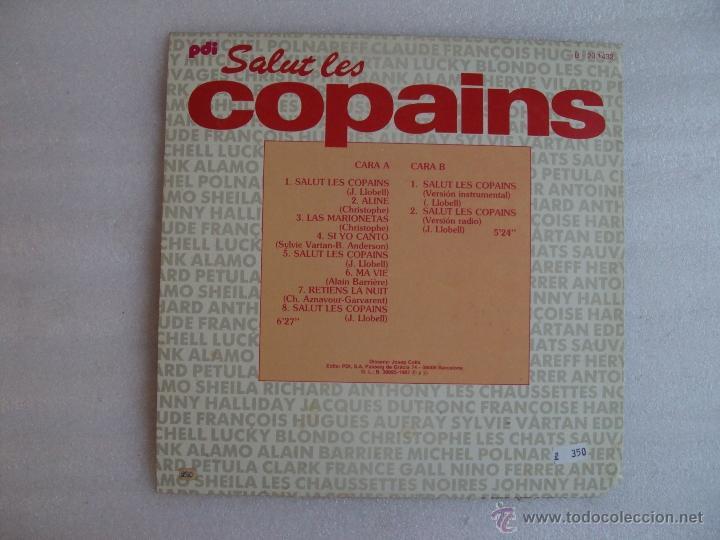 Discos de vinilo: SALUT LES COPAINS. MAXI-SINGLE 45 R.P.M. EDICION ESPAÑOLA PDI S.A. 1987 - Foto 2 - 54415199