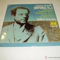 Discos de vinilo: 2 LP VINILOS GUSTAV MAHLER SINFONIA Nº5 ORQUESTA BAVIERA DE RAFAEL KUBELIK 1981. Lote 54416206