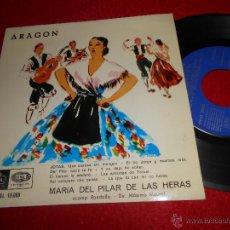 Discos de vinilo: MARIA DEL PILAR DE LAS HERAS&RONDALLA JOTAS ARAGON EP 1958 REGAL. Lote 54421394