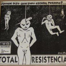 Discos de vinilo: TOTAL RESISTENCIA / WAR TOYS. Lote 54421948