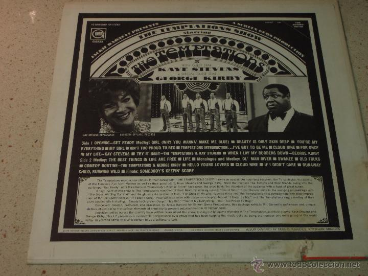 Discos de vinilo: THE TEMPTATIONS ( THE TEMPTATIONS SHOW ) USA - 1969 LP33 MOTOWN RECORDS - Foto 2 - 54426630
