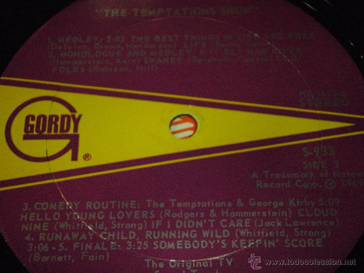 Discos de vinilo: THE TEMPTATIONS ( THE TEMPTATIONS SHOW ) USA - 1969 LP33 MOTOWN RECORDS - Foto 5 - 54426630