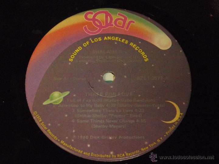 Discos de vinilo: SHALAMAR ( THREE FOR LOVE ) NEW YORK-USA 1980 LP33 SOUND OF LOS ANGELES RECORDS - Foto 6 - 54427262