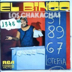 Disques de vinyle: LOS CHAKACHAS / EL BINGO / REBECA (SINGLE PROMO 1972). Lote 54429456