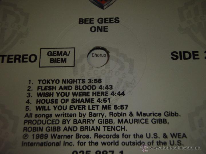 Discos de vinilo: BEE GEES ( ONE ) 1989 - GERMANY LP33 WARNER BROS RECORDS - Foto 4 - 54434717