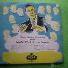 Discos de vinilo: LP MANTOVANI Y SU ORQUESTA. OBRAS CLASICAS INMORTALES PEPETO. Lote 54436567