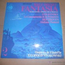 Discos de vinilo: FANTASIA DE WALT DISNEY (VOLUMEN 2) (LP) ORQUESTA DE FILADELFIA, DIR. LEOPOLD STOKOWSKI AÑO 1968. Lote 54441801