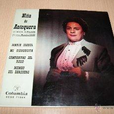 Discos de vinilo: NIÑA DE ANTEQUERA. E.PMARIA ISABEL +3 COLUMBIA 1963. . Lote 54443708