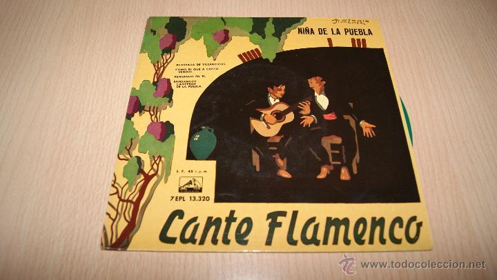 LA NIÑA DE LA PUEBLA CANTE FLAMENCO LA VOZ DE SU AMO 7EPL 13.320 AÑO 1959 (Música - Discos de Vinilo - EPs - Flamenco, Canción española y Cuplé)