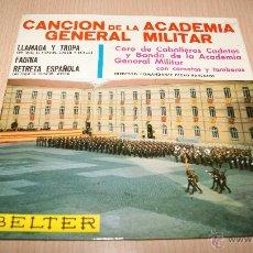 Discos de vinilo: CANCIÓN DE LA ACADEMIA GENERAL MILITAR, CORO DE CABALLEROS CADETES Y BANDA CON CORNETAS Y TAMBORES. Lote 54445063