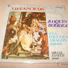 Discos de vinilo: ANA HIGUERAS ARAGON EP SELLO TEMPO AÑO 1966 VILLANCICOS DE JOAQUIN RODRIGO. Lote 54445097