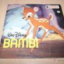 Discos de vinilo: BAMBI - WALT DISNEY-BANDA SONORA , CUENTODISCO- EP HISPAVOX DE 1967. Lote 54445253
