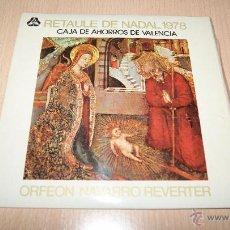 Discos de vinilo: RETAULE DE NADAL 1978 - ORFEON NAVARRO REVERTER. Lote 54445356