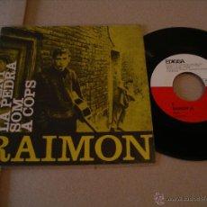 Discos de vinilo: RAIMON EP 45 RPM AL VENT EDIGSA ESPAÑA 1963 MINT + LETRAS. Lote 54448002