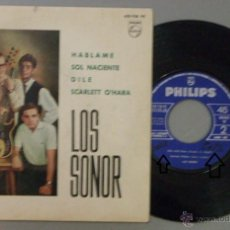 Discos de vinilo: EP LOS SONOR HABLAME + 3 VINILO VG / CARPETA VG+ VER FOTOS. Lote 54448214