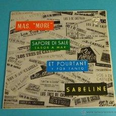 Discos de vinilo: LOS TRES DE CASTILLA CON ACOMPAÑAMIENTO. PHILIPS. Lote 54452463