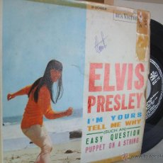 Discos de vinilo: ELVIS PRESLEY - I'M YOURS + 3 - EP / RCA 3-20958, 1966 (VG / VG). Lote 52130751