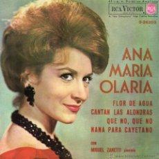 Discos de vinilo: ANA MARIA OLARIA, EP, FLOR DE AGUA + 3, AÑO 1964. Lote 54469413