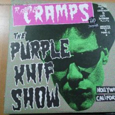Discos de vinilo: RADIO CRAMPS THE PURPLE KNIF SHOW 2XLPS CARPETA DOBLE MUNSTER RECORDS. Lote 54471013
