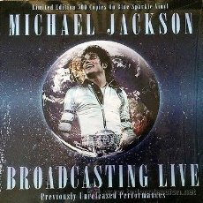 Discos de vinilo: MICHAEL JACKSON ?– BROADCASTING LIVE BLUE SPARKLE VINYL LP - 500 ONLY. Lote 54478337