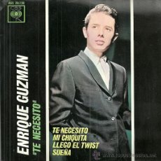 Discos de vinilo: ENRIQUE GUZMAN EP SELLO CBS AÑO 1963 EDITADO EN ESPAÑA. Lote 54492656