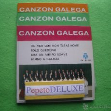 Discos de vinilo: CANZON GALEGA VOL.1 & 2. EPS SPAIN 1969 PDELUXE. Lote 54494479